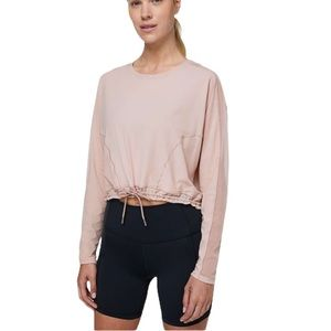 Lululemon Reach for the run long sleeve pullover vented top muse colour size 10